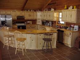 Kitchen Rustic Kitchen Design Using White Wooden L Shaped White - Cabin kitchen cabinets