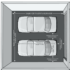 extra prints 25dimensions of a double car garage width two door