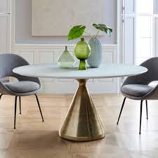 silhouette dining table oval west elm