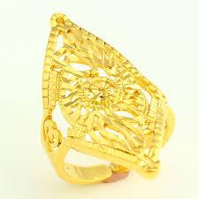 gold coloured rings images Adjustable size dubai gold rings 24k gold color ring for women jpg
