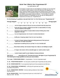 Daily Living Skills Worksheets Quick Quiz What Is Your Forgiveness Iq Judith Belmont