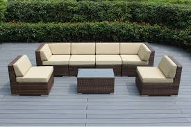 Wicker Outdoor Patio Set by Ohana Patio Outdoor Wicker Furniture Sectional 7 Pc Additional