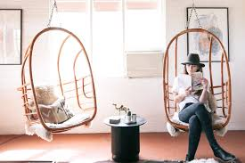 How To Hang A Hammock Chair Indoors Hanging Out In Style The Best Hanging Chairs Apartment Therapy