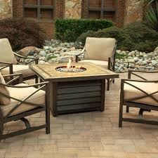 Patio Furniture With Gas Fire Pit by Agio Winchester Gas Fire Pit