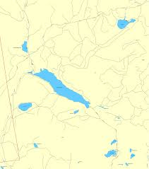 Maine Maps Kennebago Lake Area Maine Map