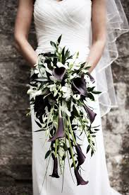 black calla black and white calla cascade bouquet 2157647 weddbook