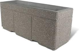 Concrete Rectangular Planter by Planters