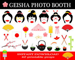 picture props printable geisha photo booth props japan travel props japanese