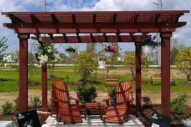 5 Ft Patio Swing With Cedar Pergola Create by Pergola The Garden And Patio Home Guide