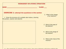 atomic structure worksheets with answers by kunletosin246