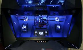 guy spends 6800 building a killer gaming pc directly in a desk