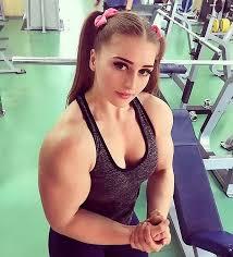 bodybuilder dubbed u0027muscle barbie u0027 baby faced arms