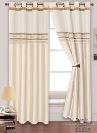 2 Tone Curtains Stylish Modern 2 Tone Chenille Faux Silk Ringtop Eyelets Lined