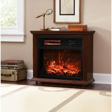 xtremepowerus infrared quartz electric fireplace heater walnut
