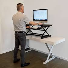 Adjustable Height Desk by Xec Fit Adjustable Height Convertible Sit To Stand Up Desk Laptop