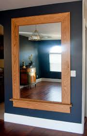 551 east our redone oversized craftsman style oak mirror