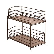 Kitchen Cabinet Picture Amazon Com Seville Classics 2 Tier Sliding Basket Kitchen
