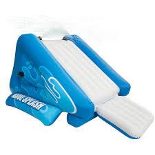 intex inflatable water slide play center with sprayer walmart com