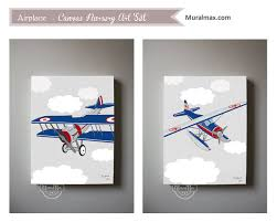 Airplane Boys Wall Art Airplane Canvas Art Boys Room Or Nursery - Canvas art for kids rooms
