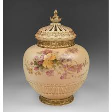 potpourri royal worcester potpourri vase liner and cover 1909 from piatik