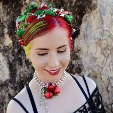hair wreath christmas hair wreath braided updo rainbow hair colour