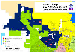 Arizona Cities Map by Ncfmd Boundary Map North County Fire U0026 Medical District