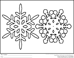 colouring pages snowflakes funycoloring