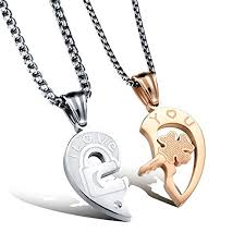 stainless steel puzzle necklace images Search results for couples necklace pg1 wantitall jpg