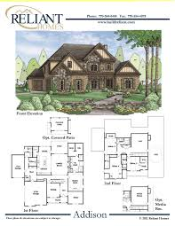 2 story home floor plans reliant homes the addison plan floor plans homes homes for