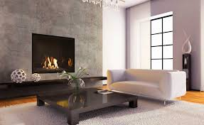 Contemporary Stone Fireplace Designs  Modern Fireplace - Living rooms with fireplaces design ideas