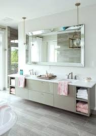Beveled Mirrors For Bathroom Chic Large Frameless Beveled Mirrors Edge Wall Mirror Bathroom