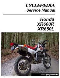 honda xr600r xr650l motorcycle cyclepedia printed service manual