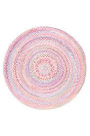 Cottage Rugs Pink Baby U0027s Breath Braided Chenille Rug Cottage Home
