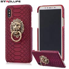 metal lion ring holder images Strollife for iphone x case retro 3d lion head metal ring holder jpg