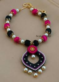 necklace designs making images The 152 best thread silk thread necklaces images in jpg