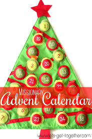 missionary christmas tips ideas advent calendar from lets get