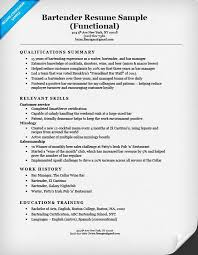 bartending resume templates sle bartender resume adorable bartender resume sle writing