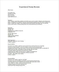 nanny resume exles nanny resume exle fair nanny resume exles zoroblaszczakco