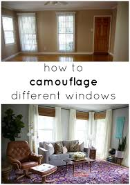 different window treatments how to camouflage different windows jpg
