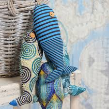 stuffy fabric fish make great comfy toys for the kids and are fun