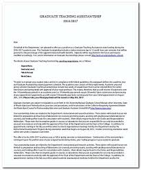 graduate teaching assistant cover letter