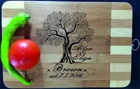 cutting board wedding gift personalized cutting board engraved custom wood cutting board