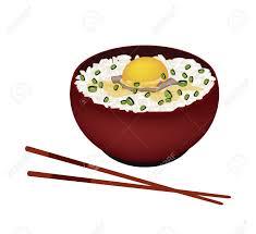 cuisine fond blanc cuisine japonaise illustration de white riz vapeur avec egg