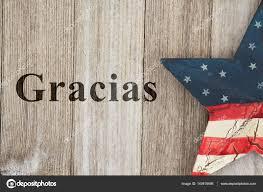 Old Flag Usa Usa Spanish Thank You Message U2014 Stock Photo Karenr 143618495