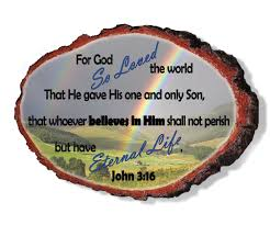 Home Decor Gifts For Mom John 3 16 Scripture Wall Art Religious Wall Art Wood Sign Home
