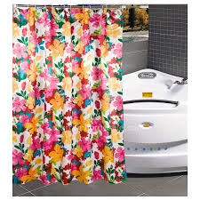 Bright Shower Curtain Custom Floral Multi Color Waterproof Funky Shower Curtain