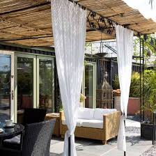 Bamboo Patio Cover 20 Diy Outdoor Curtains Sunshades And Canopy Designs For Summer