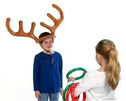 amazon com fun express inflatable reindeer antler ring toss game