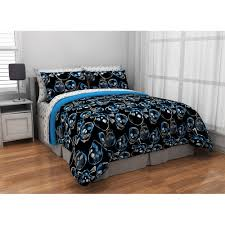 latitude graphic skull bed in a bag bedding set walmart com