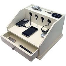 Electronic Charging Station Desk Organizer Heiden Deluxe White Charging Station Valet For The Home